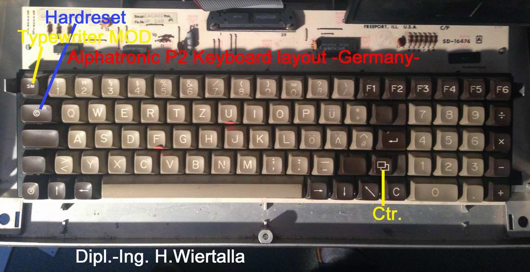 Alphatronic P2 keyboard layout - GERMANY-