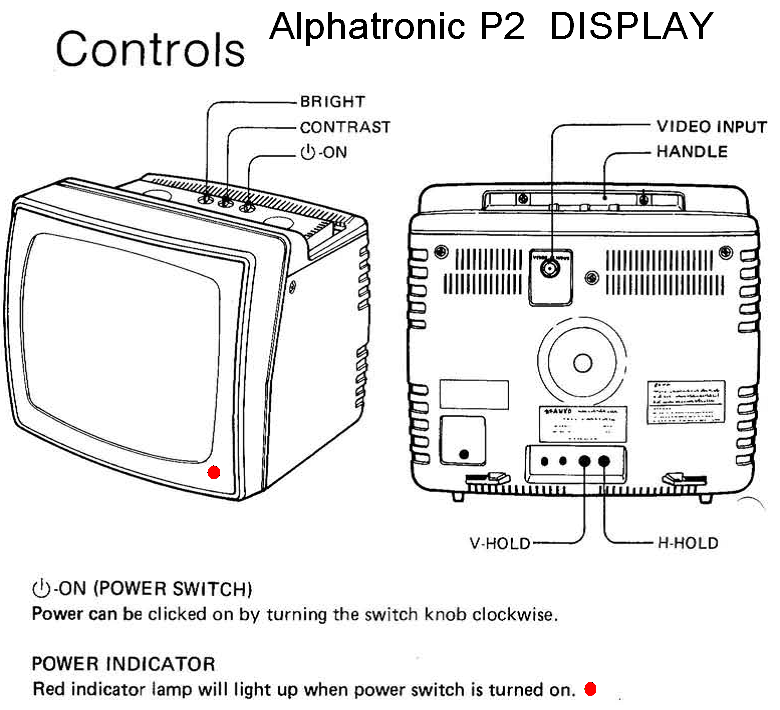 Alphatronic P2 Display the Controls.
