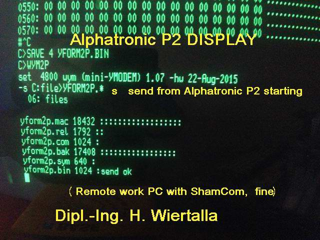 Alphatronic P2 - wym2p Filetransfer